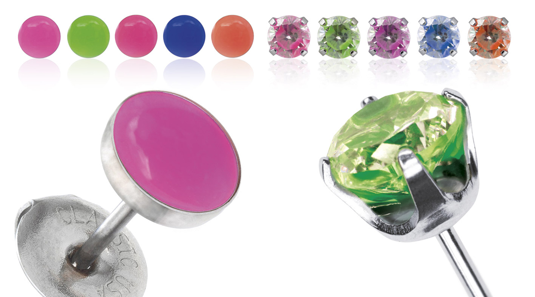 Piercing Earrings from the Studex Neon Collection – © Studex Europa
