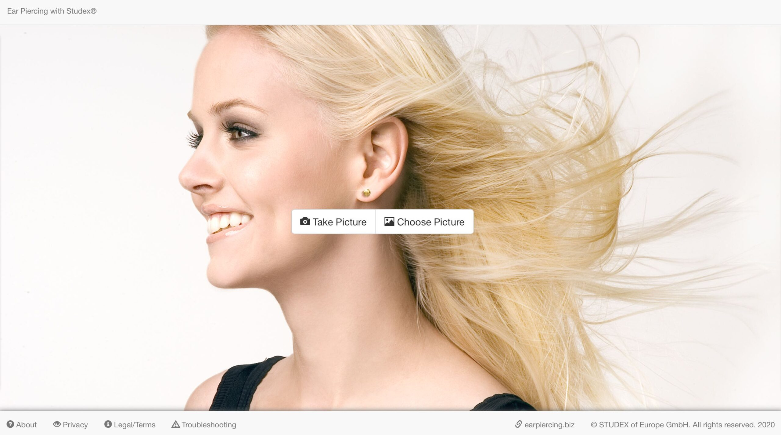 STUDEX® Ear Piercing App for PCs (Inglese): versione html per PC